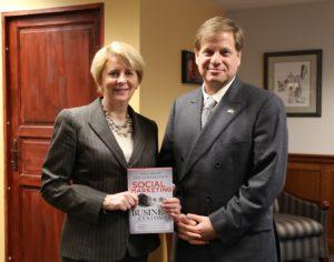 Eric Schwartzman with Ambassador Deborah McCarthy