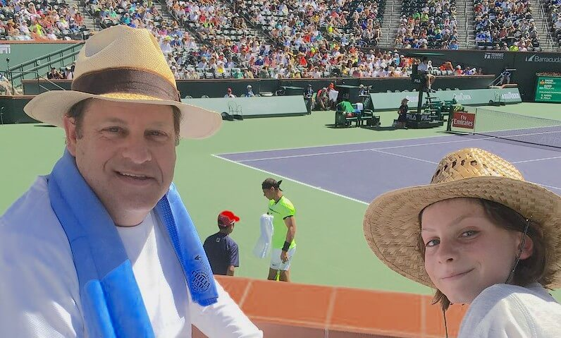 Digital Marketing Consultant Eric Schwartzman at the Indian Wells Tennis Garden