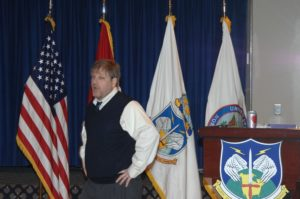 Eric Schwartzman leads a seminar at NORAD Northcomm