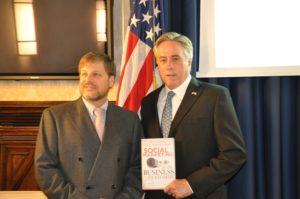 Eric Schwartzman with Ambassador David Thorne