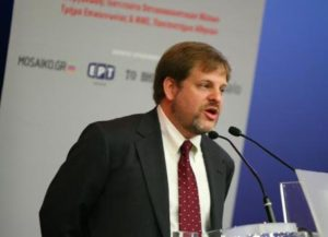 Eric Schwartzman delivering a keynote Aristotle University Keynote