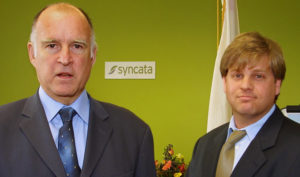 Eric Schwartzman with Govenor Jerry Brown