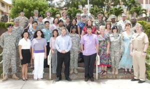 Eric Schwartzman with US Pacific Command Public Affairs Detail at Camp HM Smith
