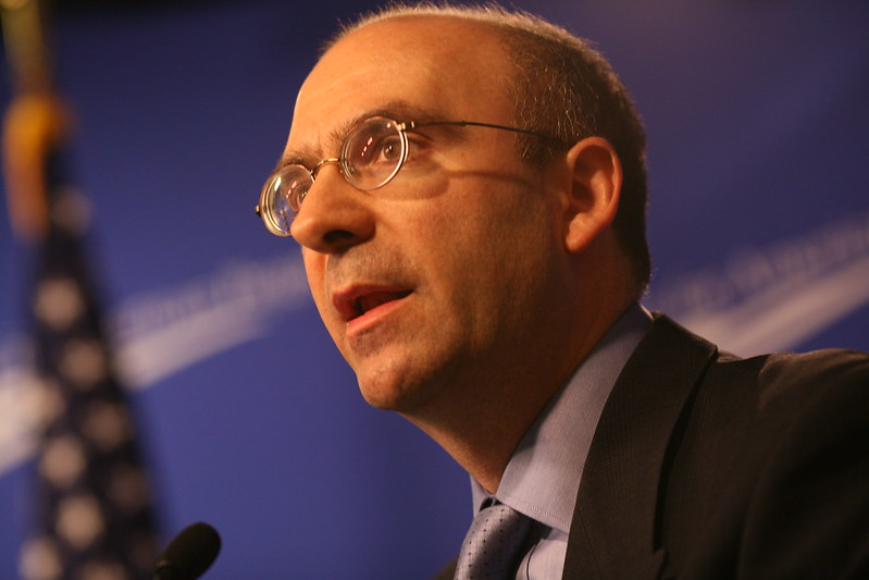 Joseph J. Romm, American author, blogger, editor, physicist and climate expert, who advocates reducing greenhouse gas emissions to increase energy security. Source: Center for American Progress